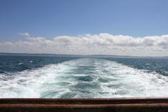 Vue du chalut en mer de la Manche