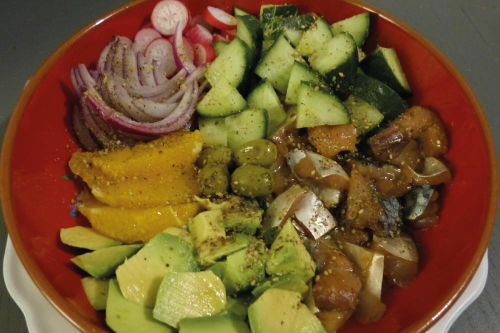 Poké bowl aux maquereaux de Gourmicom